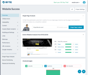 ryte on page seo